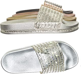 blinged out flat sandals