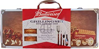 Budweiser Original Grilling Set with Wood Clydesdale Carrying Case, 5 pc