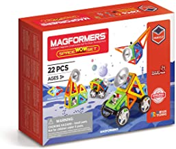 Magformers Space Wow 22 Pieces Rainbow Colors, Educational Magnetic Geometric Shapes Tiles Building STEM Toy Set Ages 3+