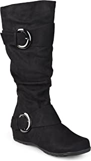 Journee Collection Womens Extra Wide Calf Mid-Calf Slouch Riding Boots