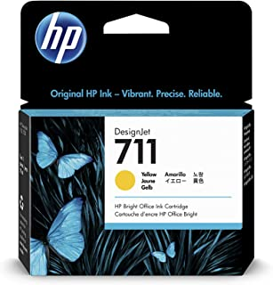 HP 711 Yellow 29-ml Genuine Ink Cartridge (CZ132A) for DesignJet T530, T525, T520, T130, T125, T120 & T100 Large Format Pl...