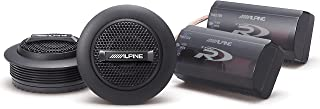 Alpine SPR-10TW 1-inch Silk Ring Dome Car Audio Component Tweeters (Pair)