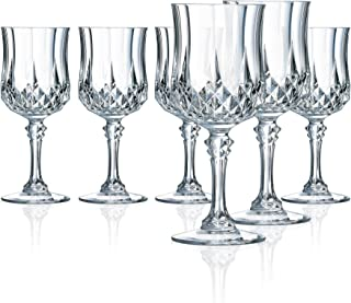 Cristal D'Arques M0083 Longchamp 5.5 Ounce All Purpose Wine Glass, Set of 6, Clear