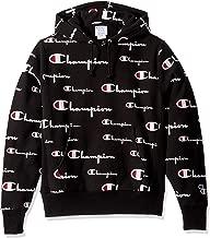 champion all over script sweatshirt