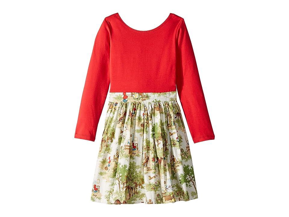 fiveloaves twofish Little Abbie Dress (Toddler/Little Kids/Big Kids) (Red) Girl