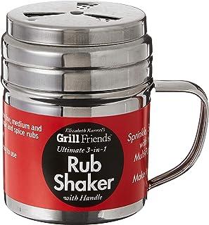 Best Elizabeth Karmel's Adjustable Dry Rub Shaker with Holes for Medium and Coarse Grind Seasonings, Stainless Steel, 1-Cup Capacity Review