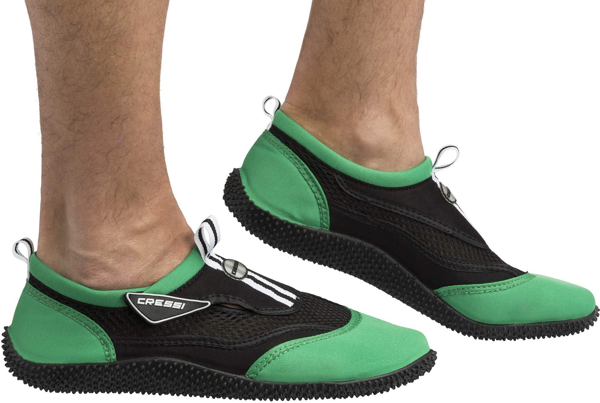Cressi Unisex Reef Shoes Badeschuhe, schwarz (Schwarz/Lime), 37 EU