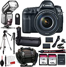 $3399 » Canon EOS 5D Mark IV Digital SLR Camera Bundle with EF 24-105mm f/4L is II USM Lens + Prime Accessory Bundle (20 Items)