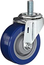E.R. Wagner Stem Caster, Swivel, Polyurethane on Polyolefin Wheel, Delrin Bearing, 280 lbs Capacity, 5