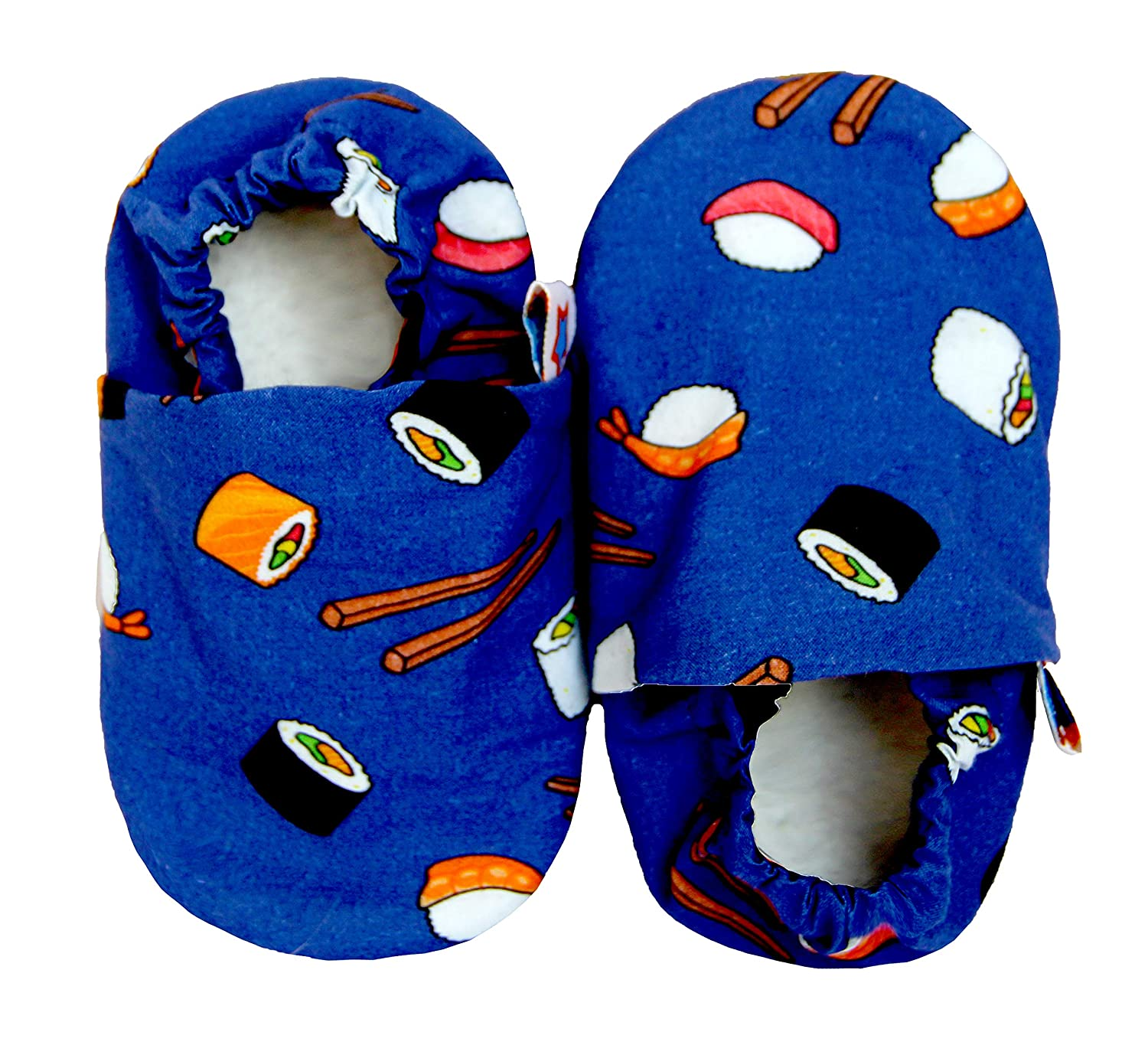 SKIPS Cotton Soft Sole Shoes, Best Baby Soft Sole Prewalkers Baby Toddler Shoes Cattle Cashmere Shoes Baby Girls Boys, Crib Shoes - Sushi Print