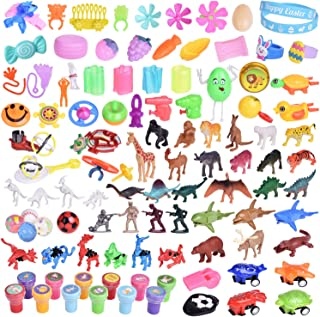 100PCs Easter Eggs Prefilled with Assorted Small Toys for Easter Basket Stuffers, Easter Eggs with Toys Inside for Easter Party Favors, Kids Easter Gifts