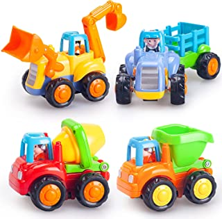 HOLA Inertia Toy Friction Powered Push and Go Cars Early Educational Engineering Vehicles Toys for Children Boys Girls Kid...