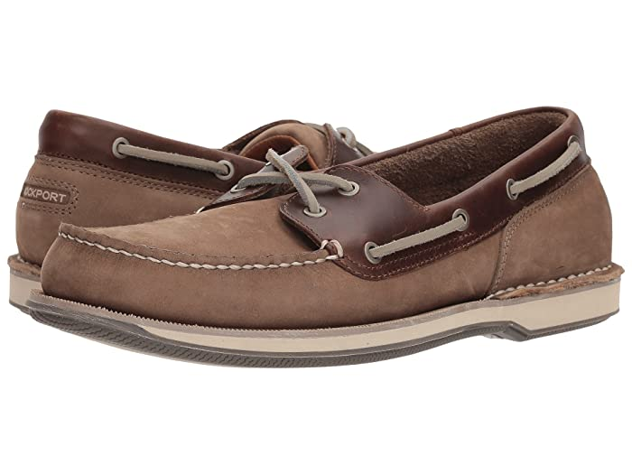 Rockport  Ports of Call Perth (Taupe Nubuck/Beeswax Leather) Mens Lace up casual Shoes
