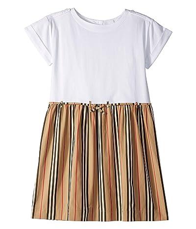 Burberry Kids Rhonda Stripe Dress (Little Kids/Big Kids) (White) Girl