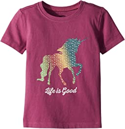 Life is Good Kids Rainbow Unicorn Crusher Tee (Toddler)