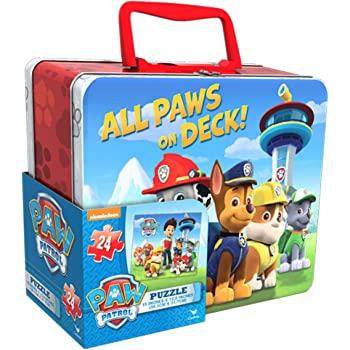 Paw Patrol 11 Mini Toddler Preschool Backpack with Paw Patrol Lunch Box Includes Bonus Puzzle