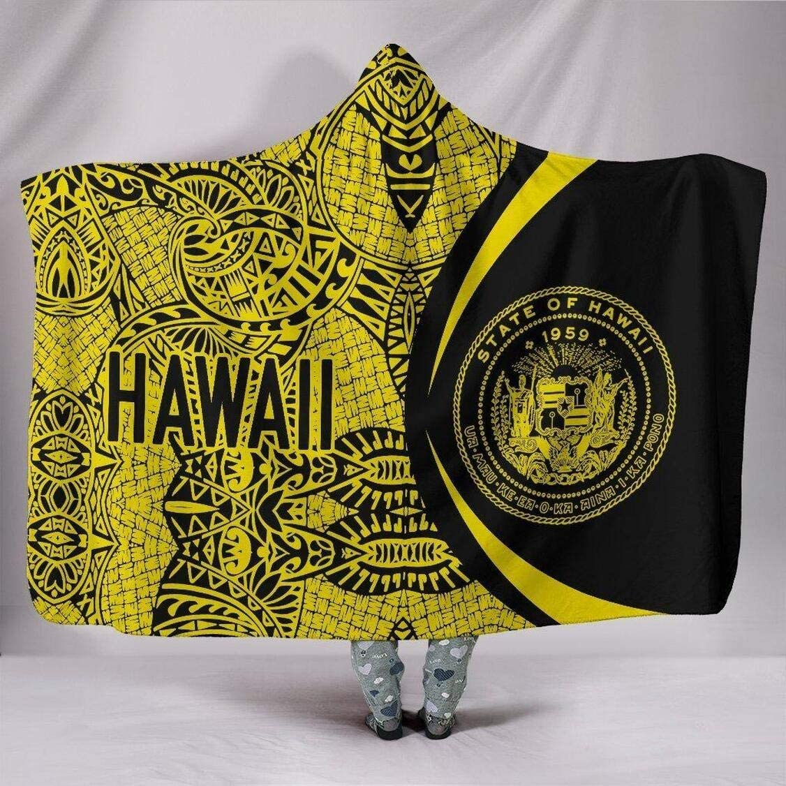Personalized Circle Style Blanket Direct store OFFer Polynesian Hawaii Blan Hooded
