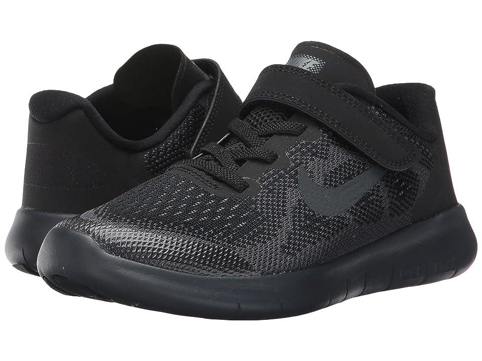 Nike Kids Free RN 2017 (Little Kid) (Black/Anthracite/Dark Grey/Cool Grey) Boys Shoes