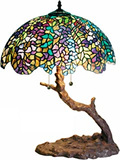 Warehouse of Tiffany 1686-BB449 Tiffany-style Tree Lamp, Green