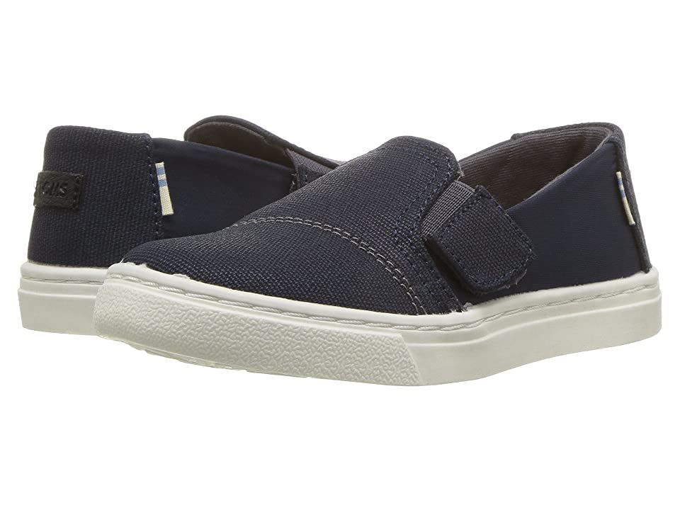 TOMS Kids Luca (Infant/Toddler/Little Kid) (Navy Nylon/Textural Canvas) Kid