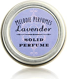 Melodie Perfumes Lavender essential oil solid perfume for women. Aromatherapy natural perfume women's fragrance. Destress, and relaxation naturally.50 tin