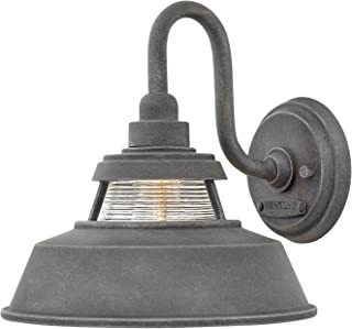 Hinkley 1194DZ Troyer Outdoor Wall Sconce, 1-Light 100 Watts, Aged Zinc