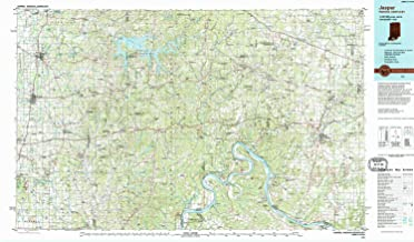 YellowMaps Jasper in topo map, 1:100000 Scale, 30 X 60 Minute, Historical, 1994, Updated 1994, 24.1 x 41.2 in