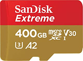 SanDisk SDSQXA1-400G-GN6MA Extreme A2 400GB microSDXC UHS-I U3 V30 (Up to 160MB/s Read, 90MB/s Write) Memory Card with Adapter , Black