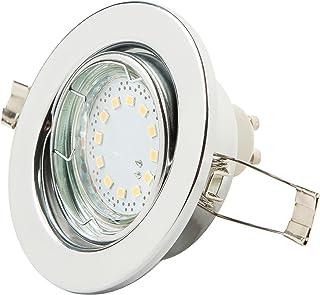 Levivo 331800000127 Spot de plafonnier à LED, Métal, Argent
