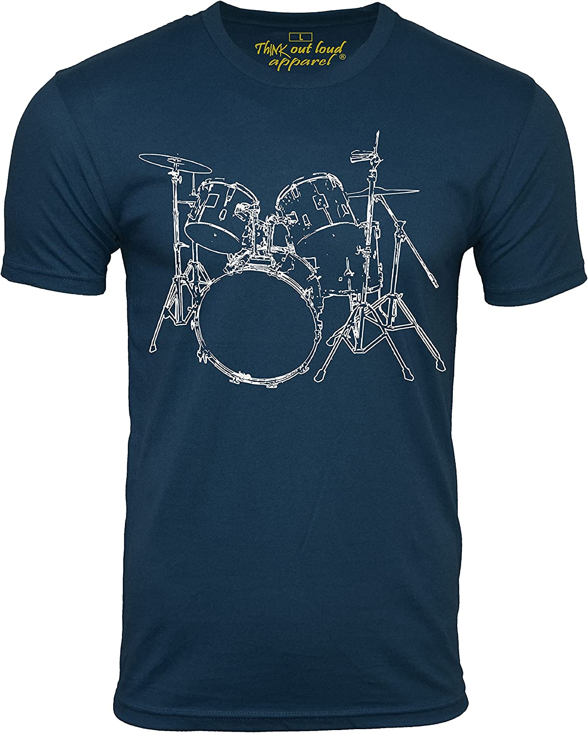 Think Out Loud Manufacturer OFFicial shop Apparel Drums Design T-Shirt Tee Drummer Max 68% OFF Artistic