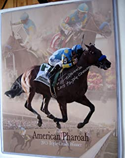 Unique Collectable American Pharoah Handsignedautograph Victor Espinoza 11x14 photo print Triple Crown Kentucky Derby Preakness Belmont Stakes 2015