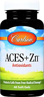Carlson - ACES + Zn, Vitamins A, C, E + Selenium & Zinc, Cellular Health & Immune Support, Antioxidant, 60 Softgels