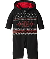Waffle-Knit Cotton Coverall (Infant)