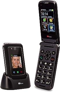 TTfone Titan TT950-3G Senior Flip Android Smartphone with Touchscreen - Free sim card Three Pay as you go, Black