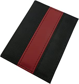 ID and Credit Card Holder 10x1x13cm in Black/Red