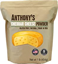 Anthony's Premium Cheddar Cheese Powder, 1Pound, Batch Tested and Verified Gluten Free, No Artificial Colors, Keto Friendly