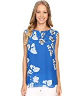 Vince Camuto - Sleeveless Floral Cascade Keyhole Blouse