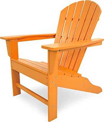 Polywood SBA15TA South Beach, Tangerine Adirondack Chair