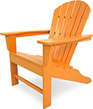 POLYWOOD Outdoor Furniture South Beach Adirondack Chair, Tangerine-Recycled Plastic Materials