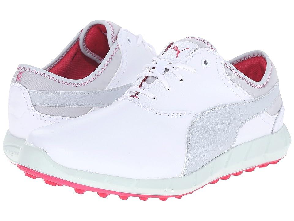 PUMA Golf Ignite Golf (White/Glacier Gray/Rose Red) Women