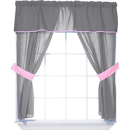 Yellow Baby Doll Bedding Forever Mine Junior 5 Piece Window Valance Curtain Set