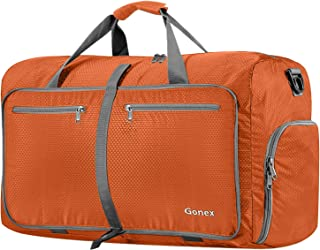 Gonex 80L Packable Travel Duffle Bag Foldable Duffel Bags for Luggage Gym Sports Camping Travelling Cycling Storage Shopping Water & Tear Resistant