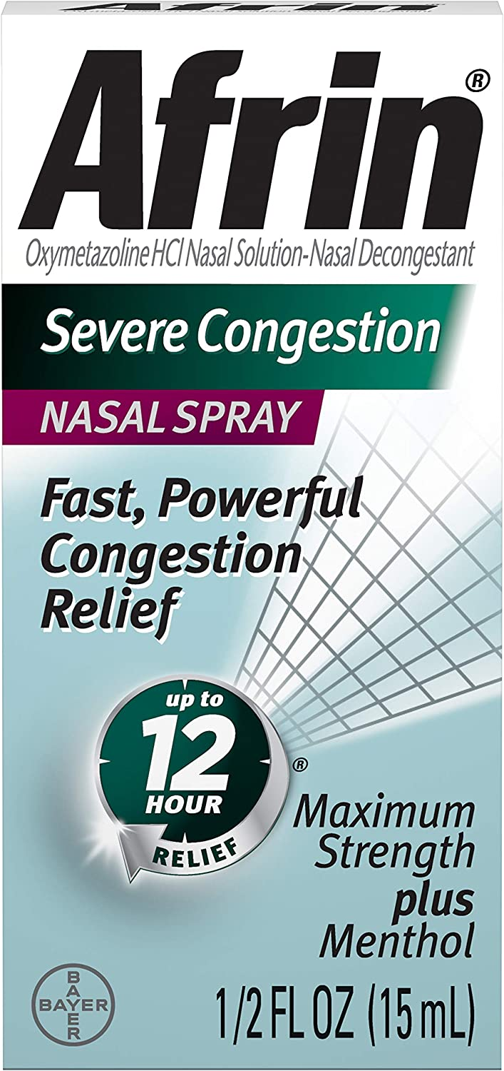 Afrin Milwaukee Mall Severe Congestion Nasal Spray 15 of Pack 10 mL online shop