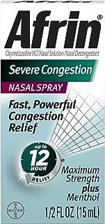Afrin Sinus Nasal Spray 0.50 oz (Pack of 2)