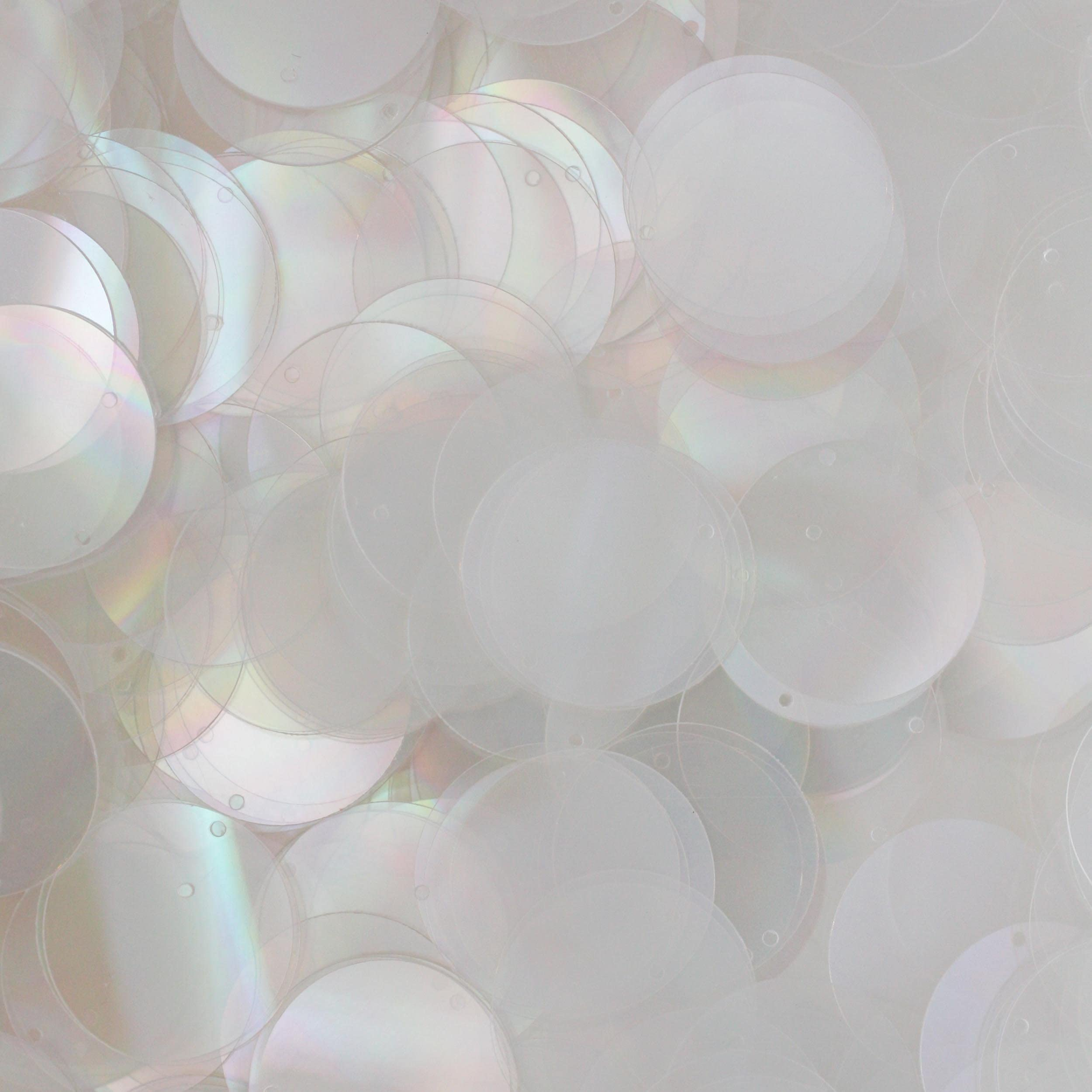 Sequin Tear Drops  Ovals Transparent Lavender Iris Paillettes  Flat ~10mm x ~13mm ~200 pieces Loose