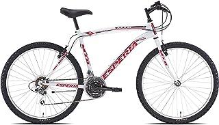 Esperia 108300U, Bicicletta Uomo, Bianco/Rosso, 26