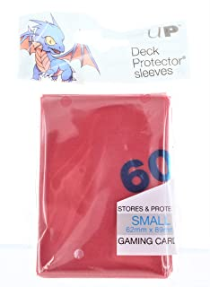 Ultra Pro Small PRO-Matte Deck Protector Sleeves for Yu-Gi-Oh and Cardfight Vanguard - Red (60 ct.)