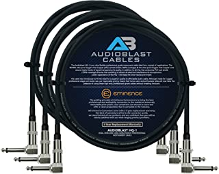 Audioblast - 3 Units - 2 Foot - HQ-1 - Ultra Flexible - Dual Shielded (100%) - Guitar Instrument Effects Pedal Patch Cable...