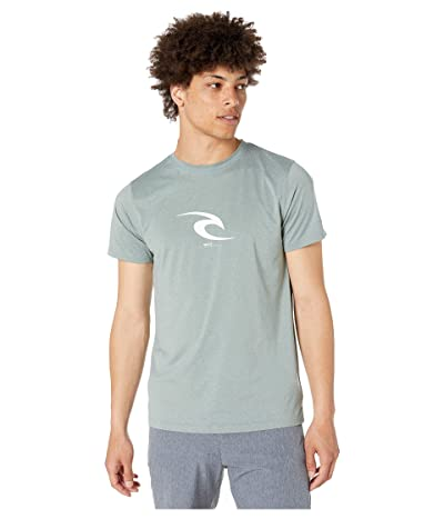 Rip Curl Icon Short Sleeve UV Tee (Aqua) Men