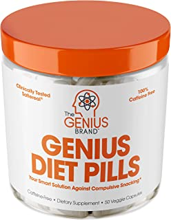 Genius Diet Pills – The Smart Appetite Suppressant That Works Fast for Safe Weight Loss, Natural 5-Htp & Saffron Supplemen...